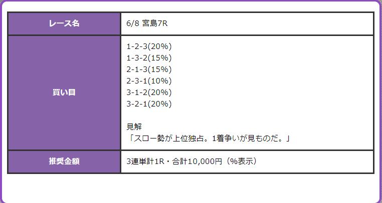 競艇オニアツ6月8日宮島競艇場7R無料予想