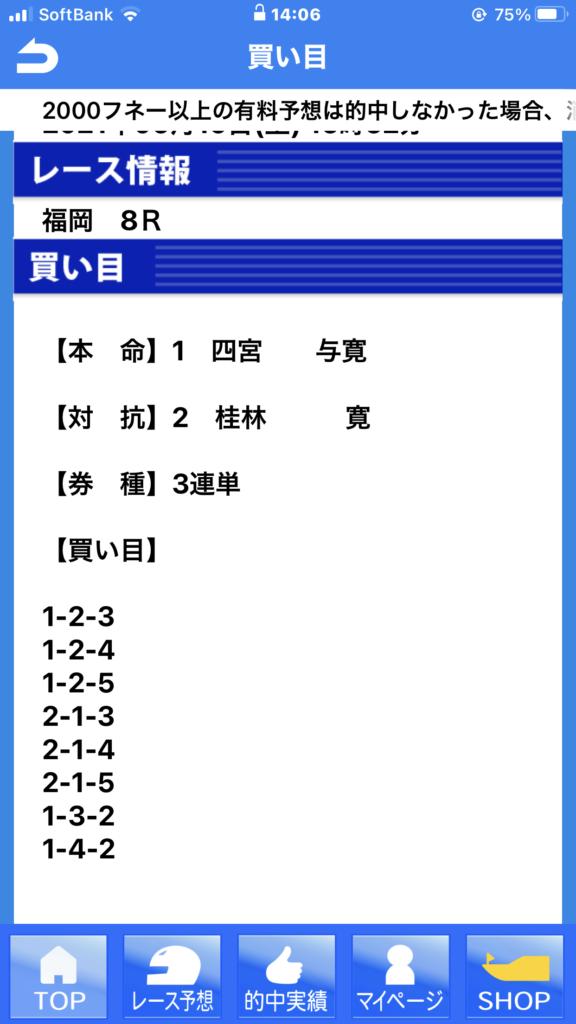 「僕らの競艇予想アプリ・ボートレース」6月19日尼福岡競艇場8R無料予想検証結果