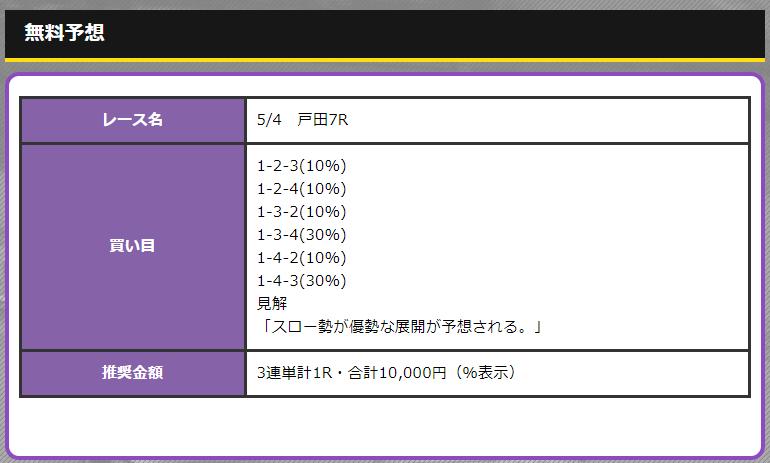 競艇オニアツ5月4日戸田競艇場7R無料予想