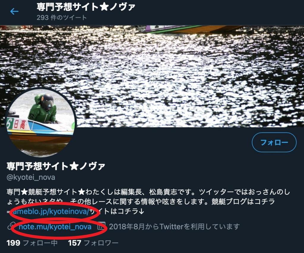 競艇ノヴァ過去のTwitter